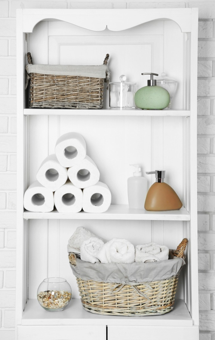 stunning bathroom shelves over toilet storage | Storage Cheats and Hacks for Small Bathrooms | Soakology