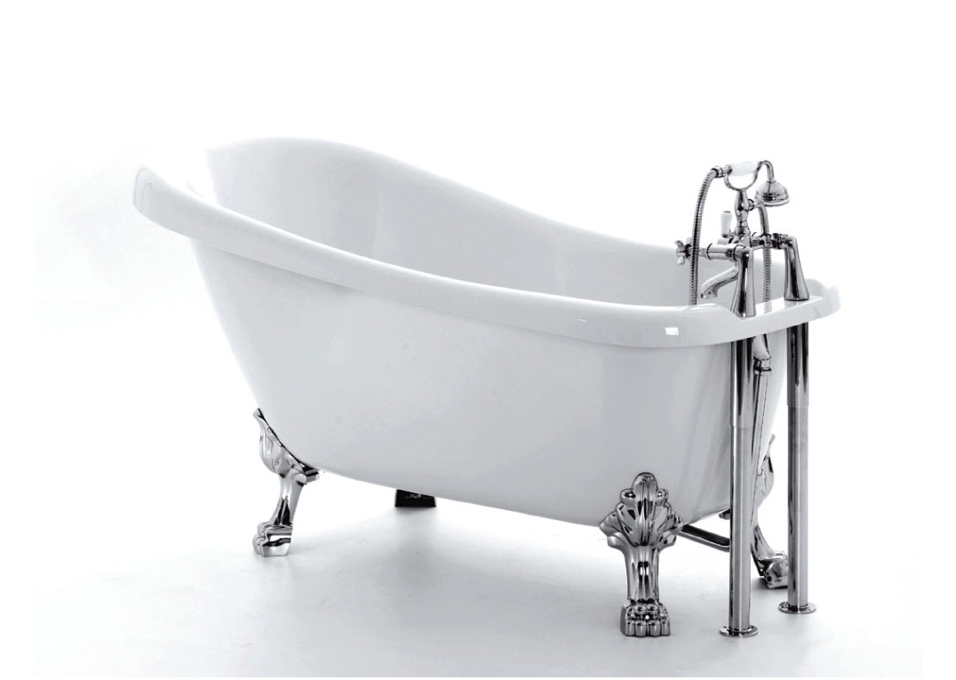 Image of visible plumbing for fitting a Chatsworth freestanding bath