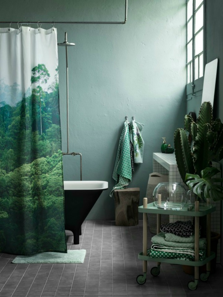 Image of a shower curtain