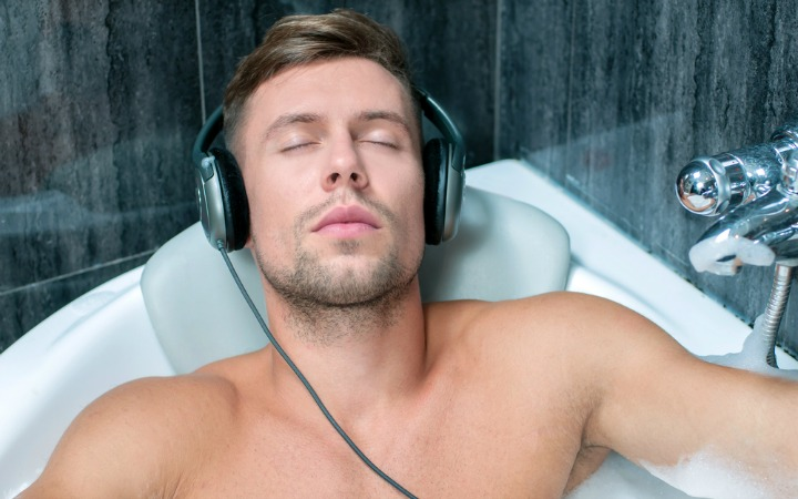 music in the bath