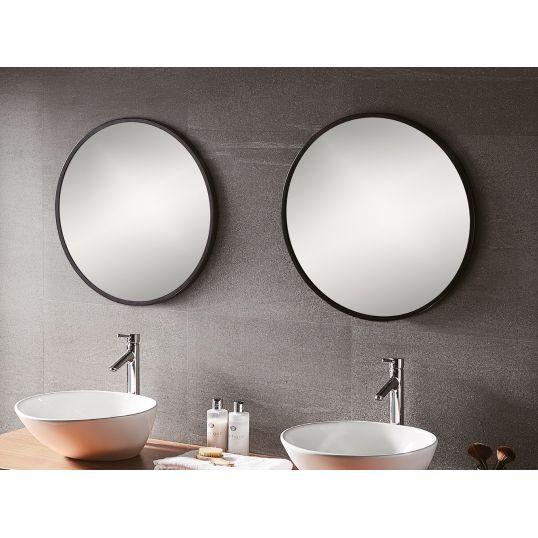 Bathroom Origins Docklands Round Mirror 80cm Black