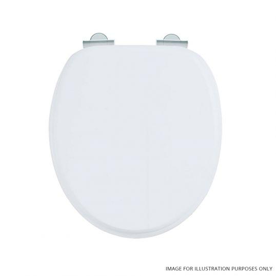 Burlington Wooden Soft Close Toilet Seat Matt White