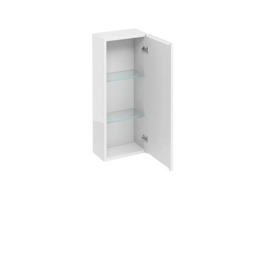 Britton Aqua Single Door Wall Cabinet With Mirror 300mm Soakology