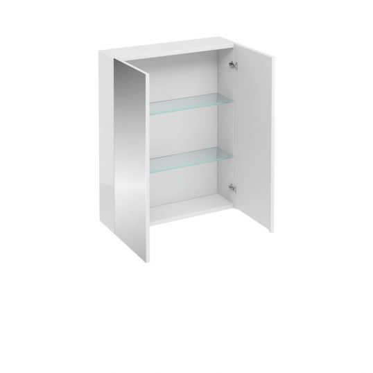 Aqua Double Door Wall Cabinet with Mirrors 600mm