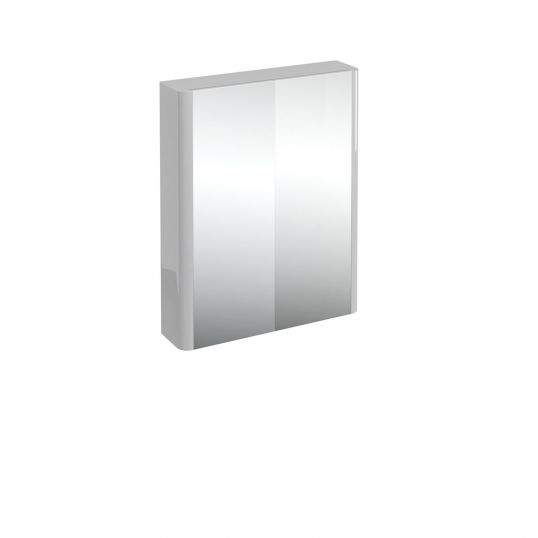 Aqua Compact 600 Mirror Cabinet Wall Hung - 2 Door