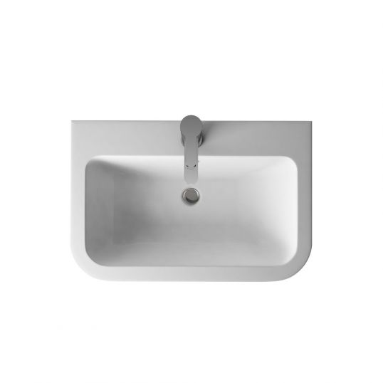 Compact Quattrocast Furniture Basin with Overflow 600mm