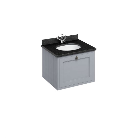 65cm Wall Hung Vanity Unit with Drawer and Worktop