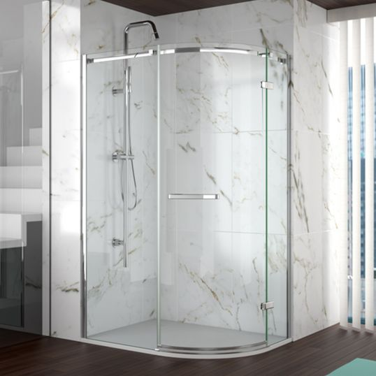 8 Series Frameless 1 Door Offset Quadrant  1200x800mm