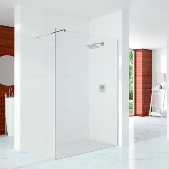 10 Series Shower Wall with Profile and Stabilising Bar