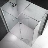 8 Series Showerwall with Hinged Swivel Panel 1050mm