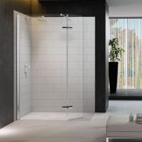 8 Series Showerwall with Hinged Swivel Panel