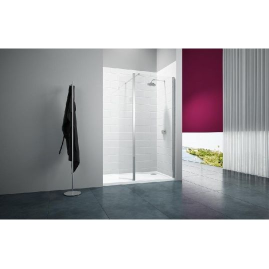 8 Series Showerwall with Swivel Panel  1200mm