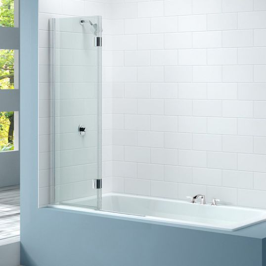 2 Panel Hinged Bathscreen Left 900x1500mm