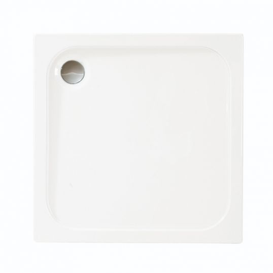MStone Square Tray with Waste 760mm