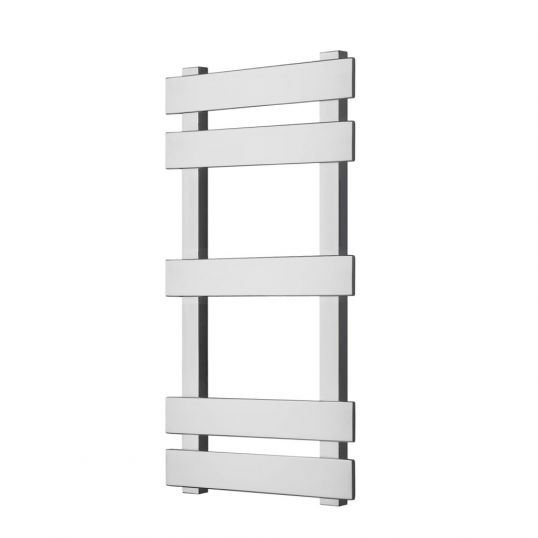 Octagon Heated Towel Rail 630x300mm Polished Stainless Steel
