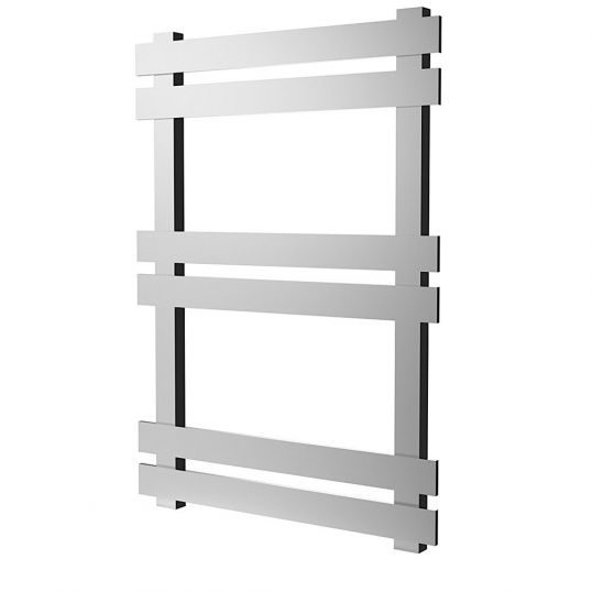 Octagon Heated Towel Rail 840x600mm Polished Stainless Steel