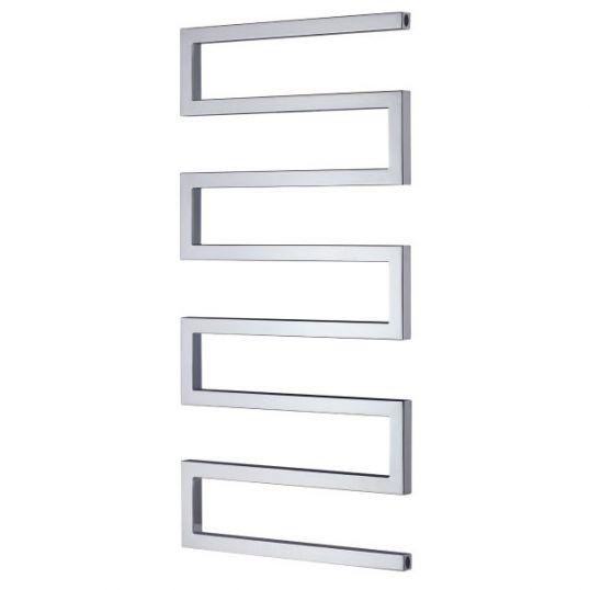 Serpentine Heated Towel Rail 1010x500mm Stainless