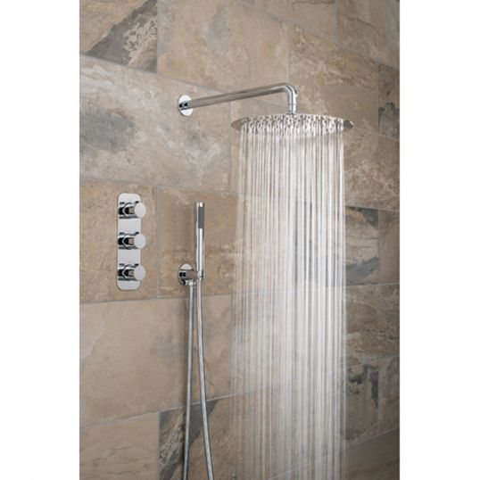 Gedy Thermostatic Shower Column.Vado Tablet Altitude Vertical 3 Handle 2 Outlet Concealed