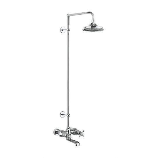 Tay Thermostatic Bath Shower Mixer Wall Mounted with Swivel Shower Arm (excluding Shower Head and Rigid Riser)