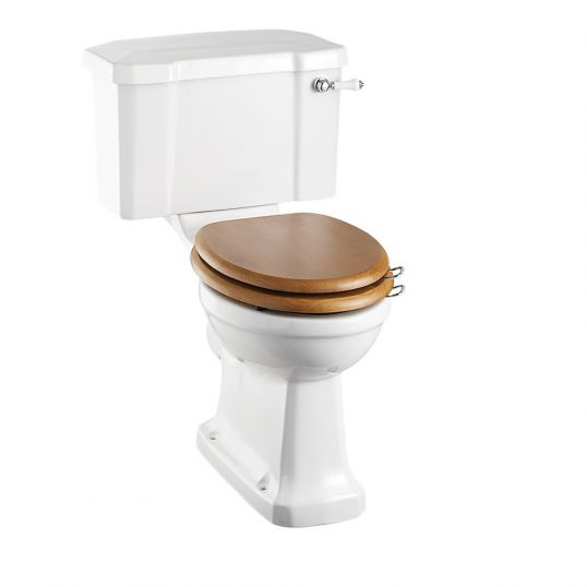 Close Coupled Toilet with Cistern Horizontal Outlet Ceramic Lever