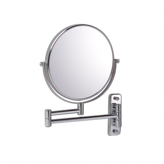 Round 7 x Magnifying Wall Mirror - Chrome
