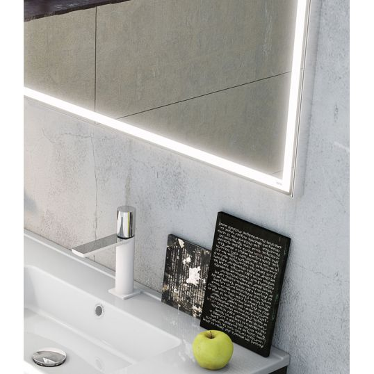 Aluminium Light Mirror 100x80cm
