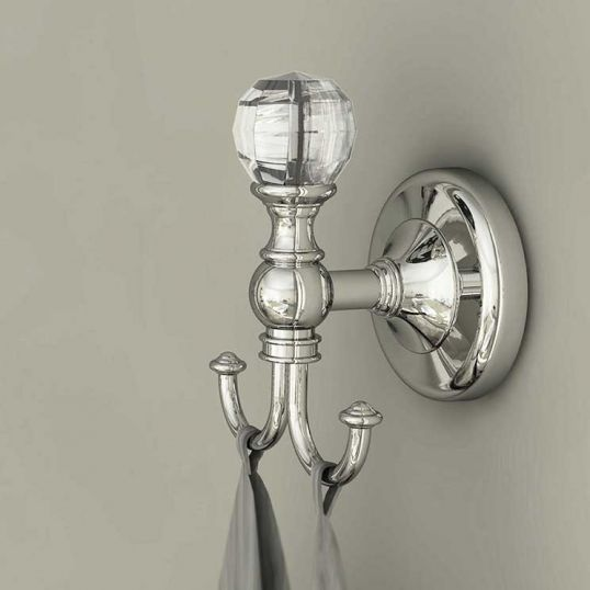 Bathroom Origins Oriental Crystal Robe Hook Chrome Soakology