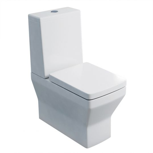 Cube Close Coupled WC with Standard Cistern Lid