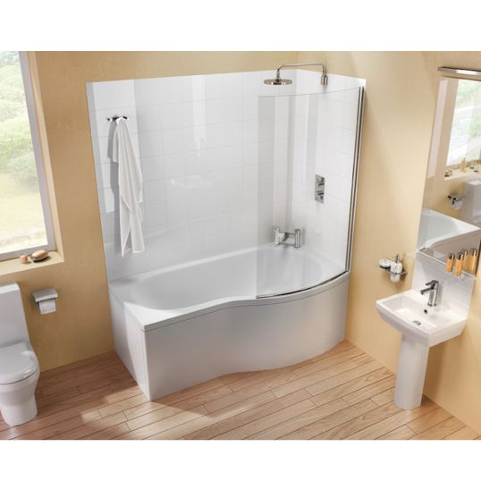 Cleargreen EcoRound Shower Bath Right 1700x800mm