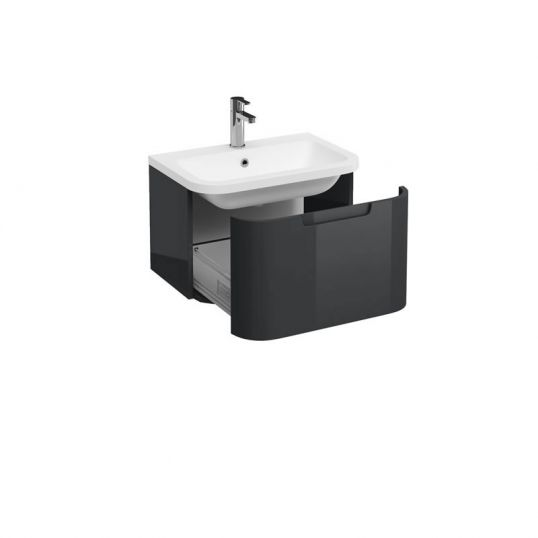Wall Hung Vanity Unit 600mm Anthracite Grey 600mm 1TH