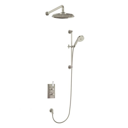 Gedy Thermostatic Shower Column.Arcade Thermostatic Shower With Handset Nickel Soakology