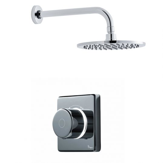 Contemporary 2025 Single Outlet Round Wall Mounted Shower Set High