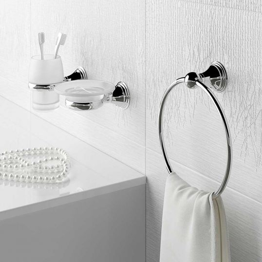 Genoa Towel Ring and Accessories Set
