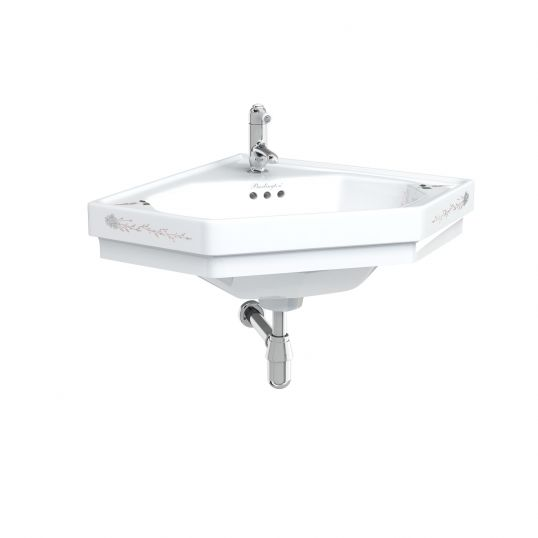 English Garden corner basin one tap hole with overflow